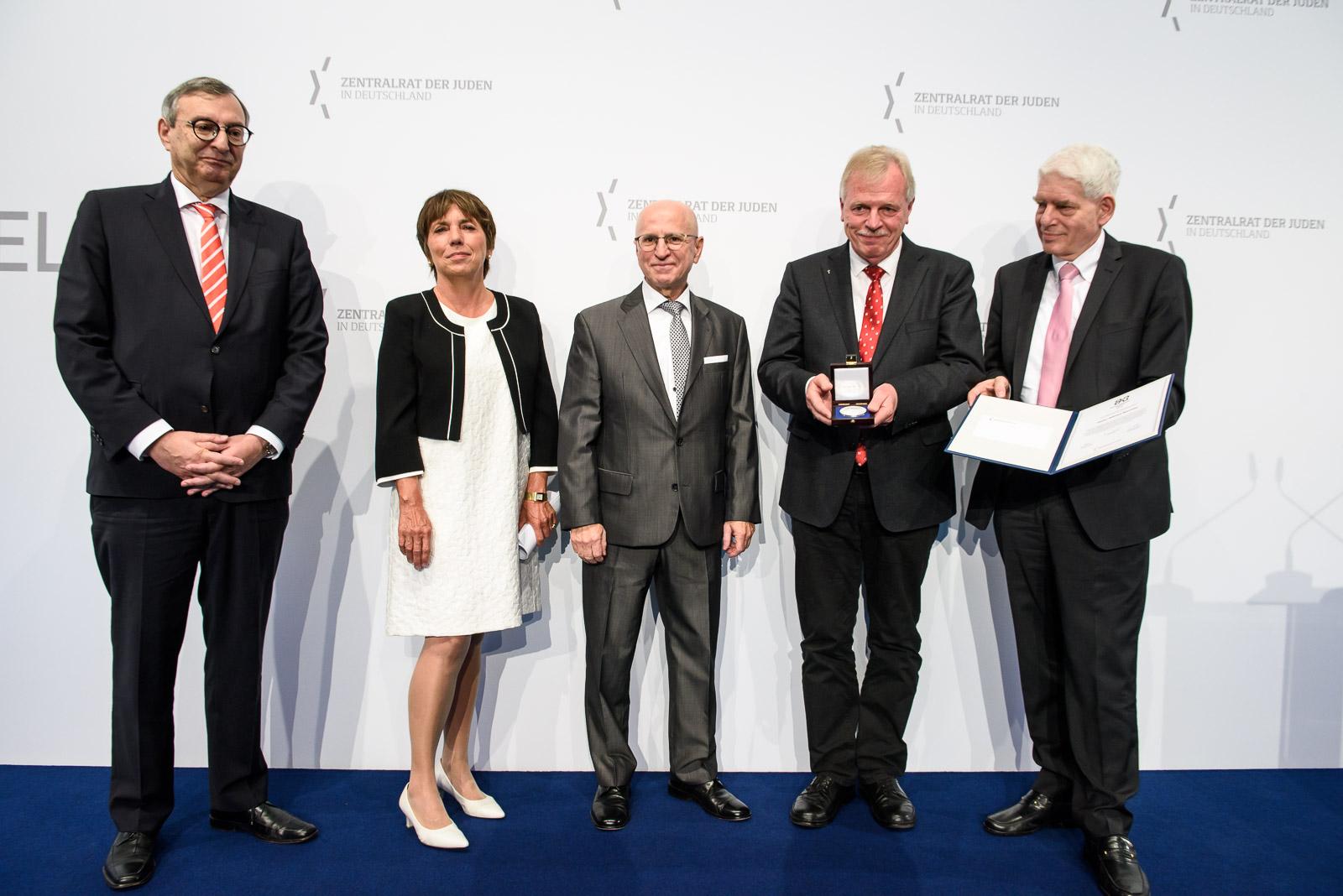 v.L. Abraham Lehrer, Prof. Dr. Margot Kässmann, Mark Dainow, Wilfried Manneke, Dr. Josef Schuster